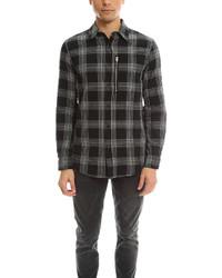 R 13 r13 zip plaid shirt medium 457749