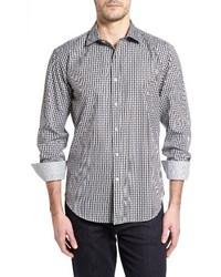 Shaped fit plaid sport shirt medium 3685273