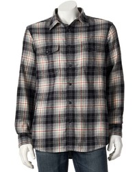 Sonoma Life Style Plaid Button Down Flannel Shirt
