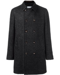 Black Plaid Overcoat