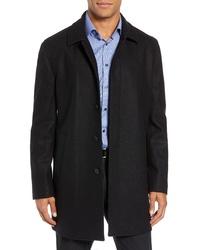 John W. Nordstrom Brandon Plaid Wool Blend Coat