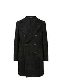 Tagliatore Checked Double Breasted Coat