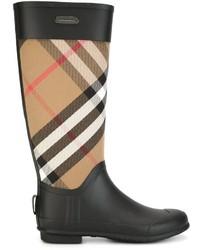 Burberry Checked Panel Rain Boots