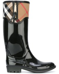 Burberry House Check Detailing Rain Boots