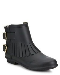 Burberry Fritton Fringe Rubber House Check Rain Boots