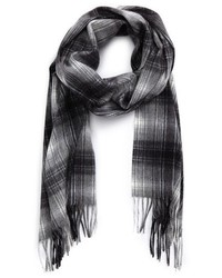 Andrew Stewart Ombre Plaid Cashmere Scarf