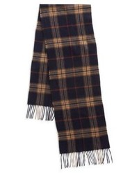 Black & Brown Black Brown Plaid Cashmere Scarf