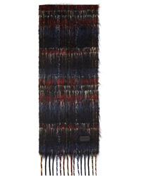 Saint Laurent Black Multicolor Mohair Scarf