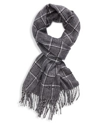 Hickey Freeman Glen Plaid Cashmere Scarf