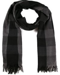 Issey Miyake Checked Scarf