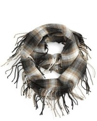David & Young Plaid Infinity Scarf