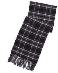 Chaps Reversible Plaid And Herringbone Scarf
