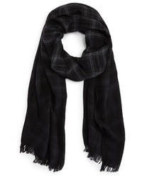 John Varvatos Star Usa Shirt Plaid Dip Dye Scarf