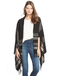 Madewell Border Plaid Cape Scarf
