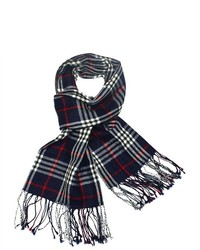 Dahlia 100 merino wool pashmina scarf classic plaid medium 125378