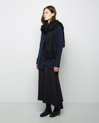 Y's Double Check Wool Stole