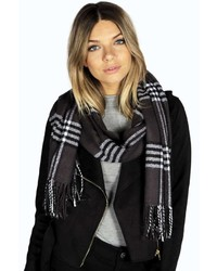 Boohoo Ruby Checked Blanket Scarf