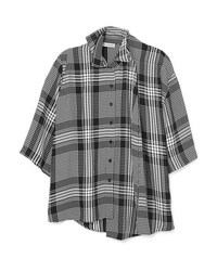 Balenciaga Layered Checked Poplin Shirt