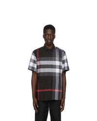 Burberry Grey Check Somerton Short Sleeve Shirt