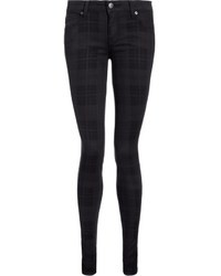 Black plaid shya skinny jeans medium 38848