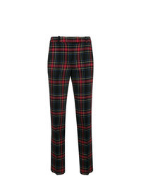 Black Plaid Skinny Pants