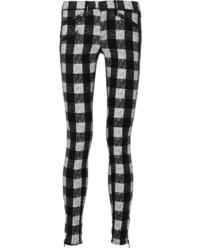 Rag & Bone Plaid Cotton Blend Flannel Skinny Pants