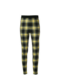 Ermanno Scervino Plaid High Waist Fitted Trousers