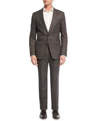 Johnstons lennon mlange plaid slim fit basic suit blackburgundy medium 3678330