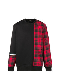 N°21 N21 Plaid Panel Sweatshirt