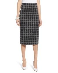 Halogen Windowpane Knit Midi Skirt