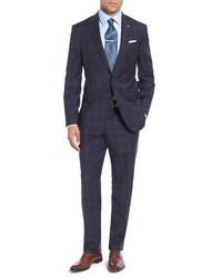 London jay trim fit plaid wool suit medium 749841