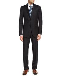 Trofeo wool plaid two piece suit medium 4353110