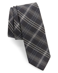 title of work Dotted Plaid Silk Wool Tie