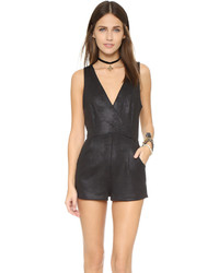 Free People Coated Knit Black Moonlight Romper