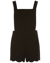Dorothy Perkins Black Pinafore Playsuit