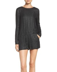 MLV Long Sleeve Beaded Romper