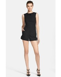 RED Valentino Stretch Poplin Romper Black 6 Us 44 It