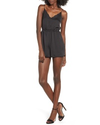Topshop Satin Scallop Playsuit