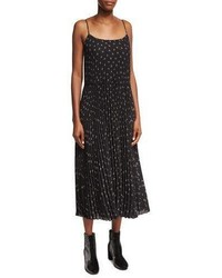 Vince Tossed Ditsy Floral Pleated Cami Maxi Dress