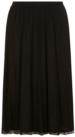 40583b66d7 Dorothy Perkins Black Mesh Pleated Midi Skirt, $39 | Dorothy Perkins ...
