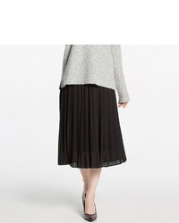 Uniqlo High Waist Chiffon Pleated Midi Skirt