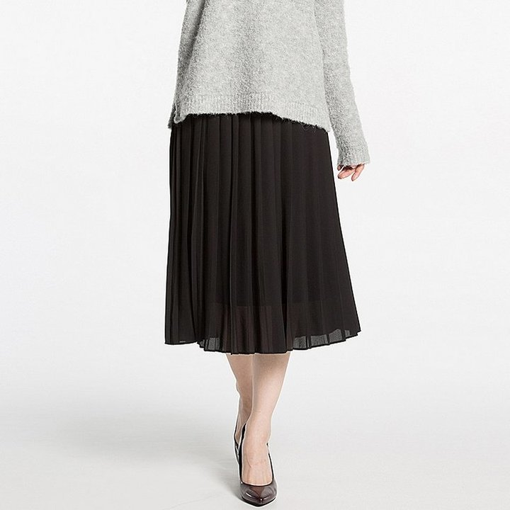 2b739fd1a Uniqlo High Waist Chiffon Pleated Midi Skirt, $29 | Uniqlo ...