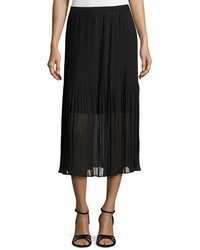 724428a90 Black Pleated Chiffon Midi Skirts for Women | Women's Fashion ...
