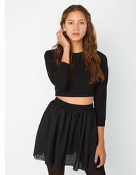 American Apparel Chiffon Double Layered Shirred Waist Skirt