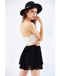 Urban Outfitters Ecote Pleated Tiered Chiffon Mini Skirt
