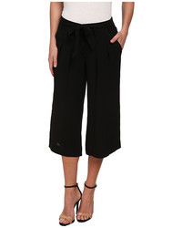 Adrianna Papell Pleated Culotte W Self Belt
