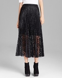 Free People Maxi Skirt Coated Perma Lace Pretty Pleats