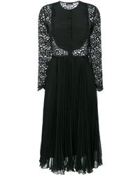Ermanno Scervino Pleated Midi Lace Dress