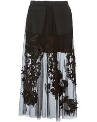Aviu Avi Sheer Embroidered Maxi Skirt