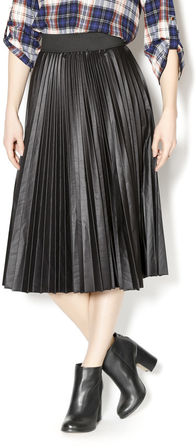 1018 Leather Pleated Midi Skirt | Where to buy & how to wear
